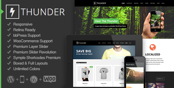 Thunder - Responsive Multi-Purpose Theme - Corporate WordPress