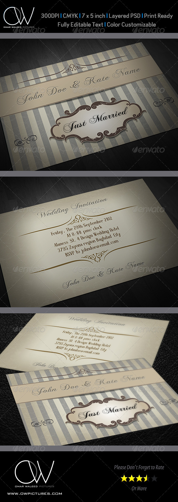 Wedding Invitation Vol.6 - Cards & Invites Print Templates