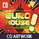 Euro House Dubstep Music CD Artwork Template - GraphicRiver Item for Sale