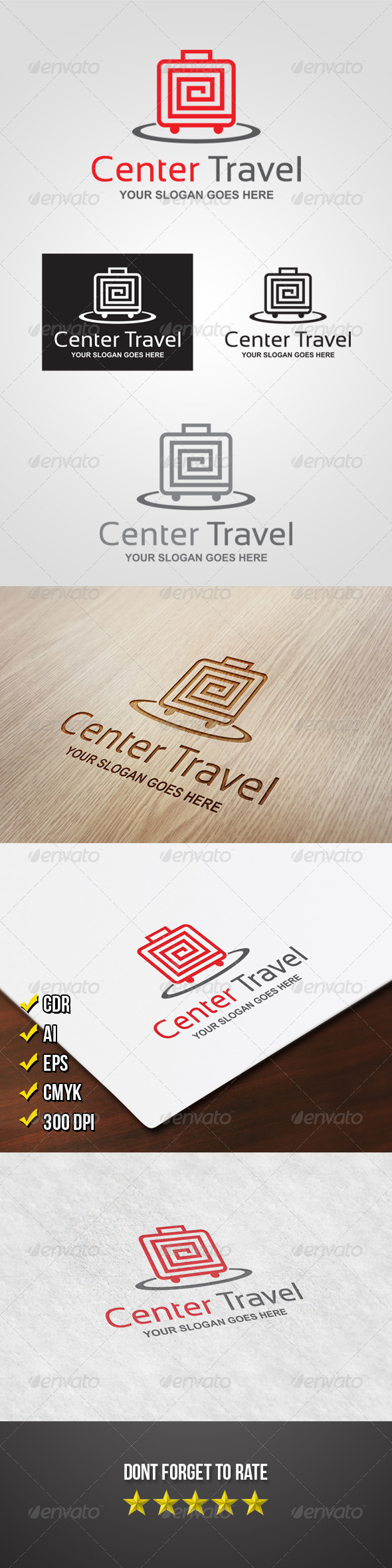 Center Travel Logo - Objects Logo Templates