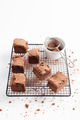 Chocolate Brownies On Cooling Rack - PhotoDune Item for Sale