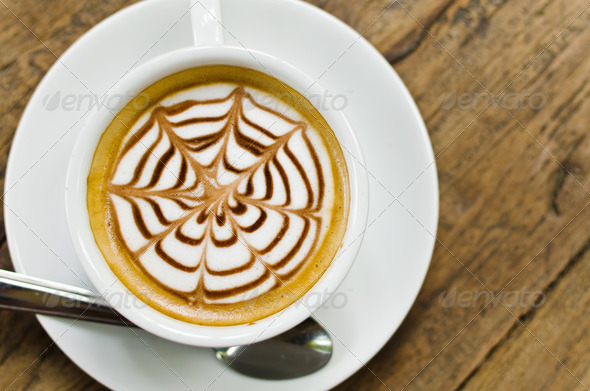 Coffee Cup on the wood. - Stock Photo - Images