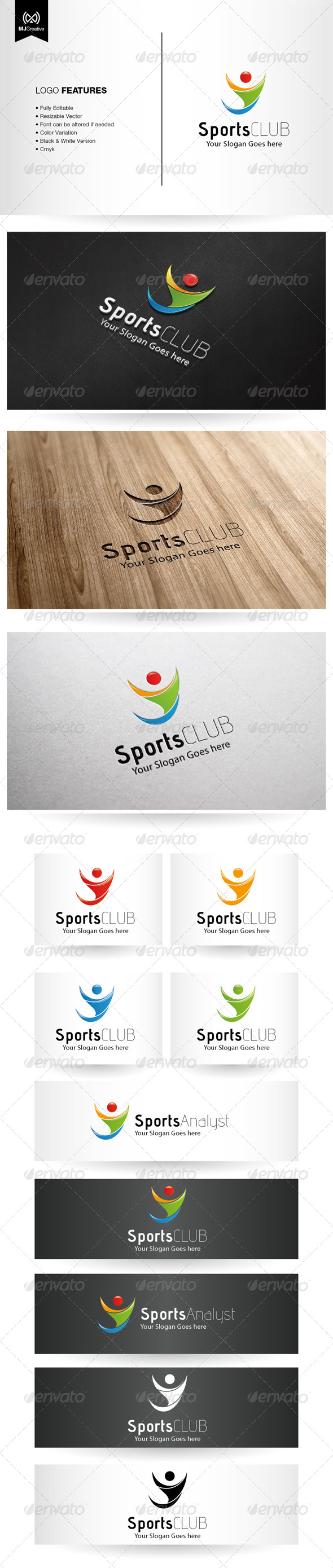 GraphicRiver Abstract Human and Sport Logo 5482740