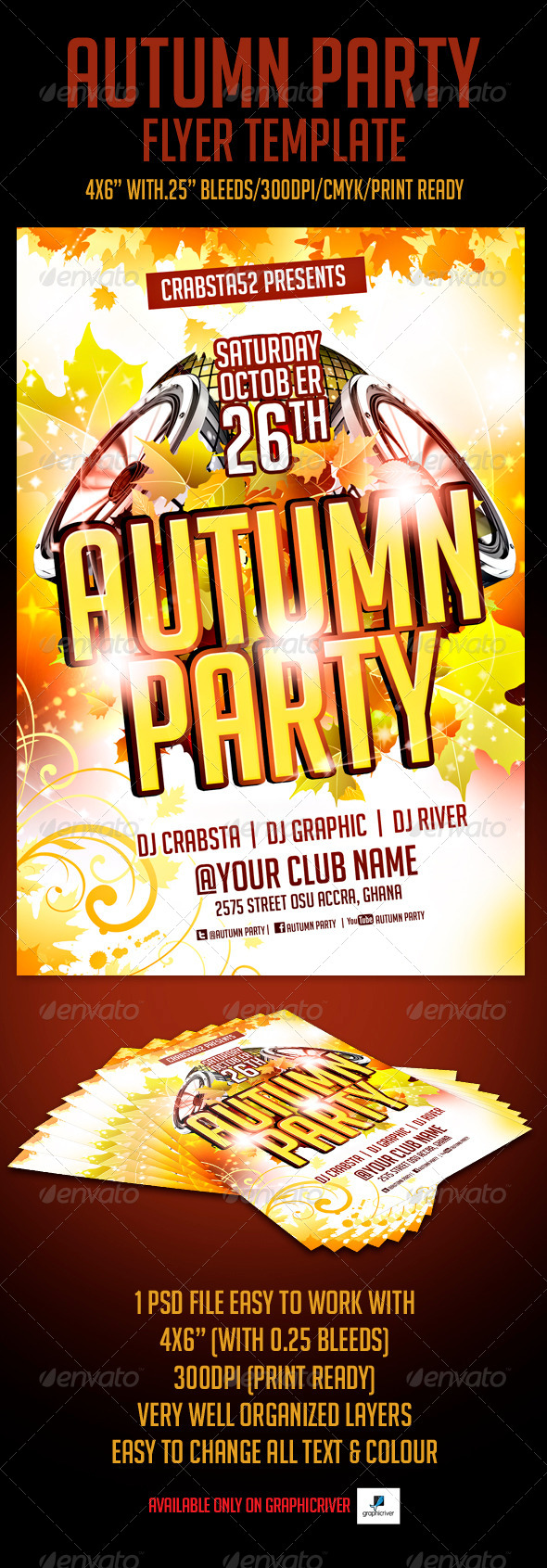 GraphicRiver Autumn Party Flyer Template 5483184