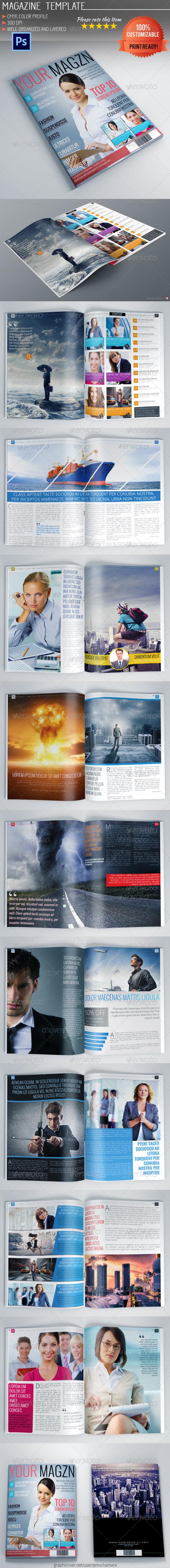 GraphicRiver Corporate Magazine Template 5483257