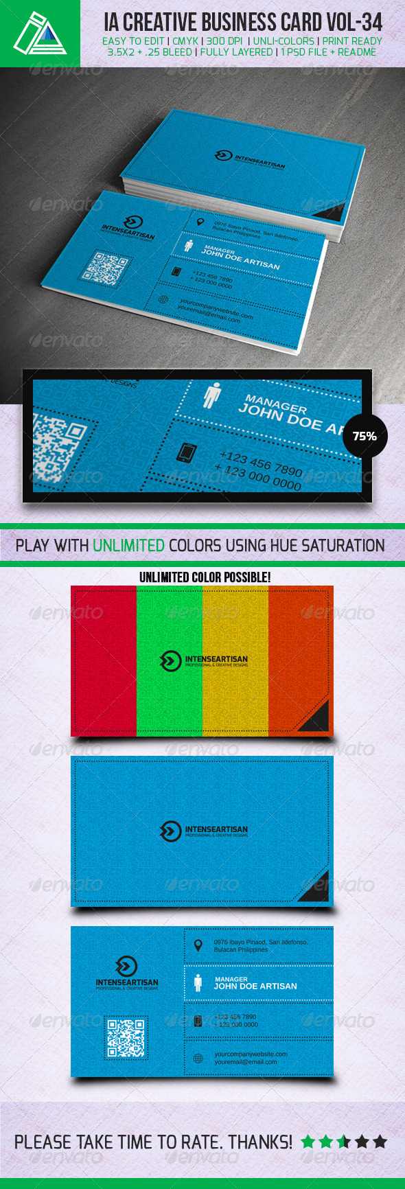 IntenseArtisan Business Card Vol 34 - Creative Business Cards