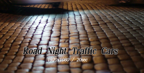 VideoHive Road Night Traffic Cars 5483518