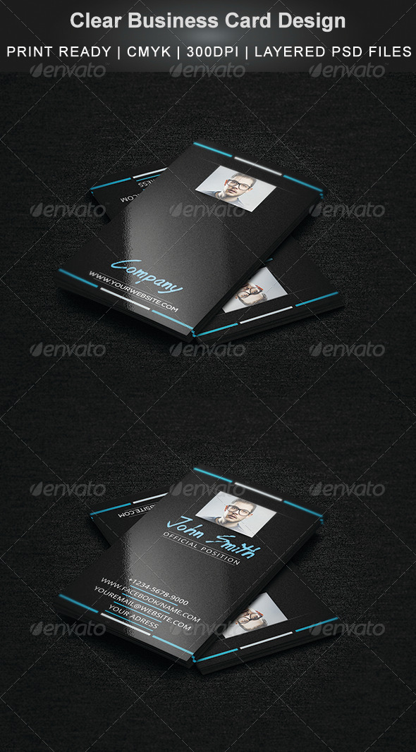 GraphicRiver Clear Business Card Design 5243471