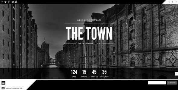 ThemeForest The Town Responsive Coming Soon Page 5483925