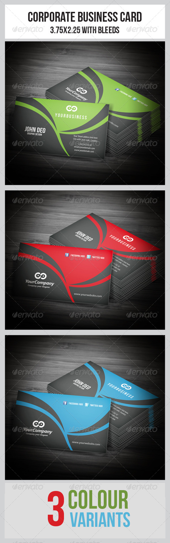 GraphicRiver Corporate Business Cards 5484088