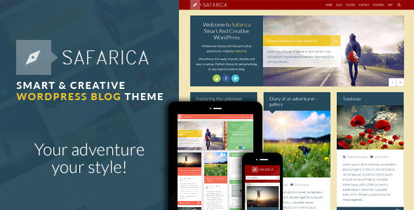 Safarica - Smart And Creative WordPress Blog Theme - Personal Blog / Magazine
