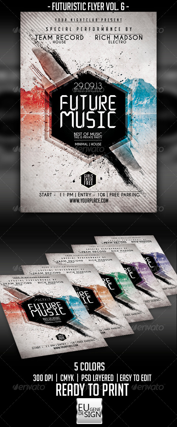 GraphicRiver Futuristic Flyer Vol 6 5484346