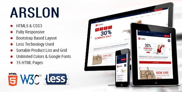 ThemeForest Arslon Premium E-Commerce Template 5484644