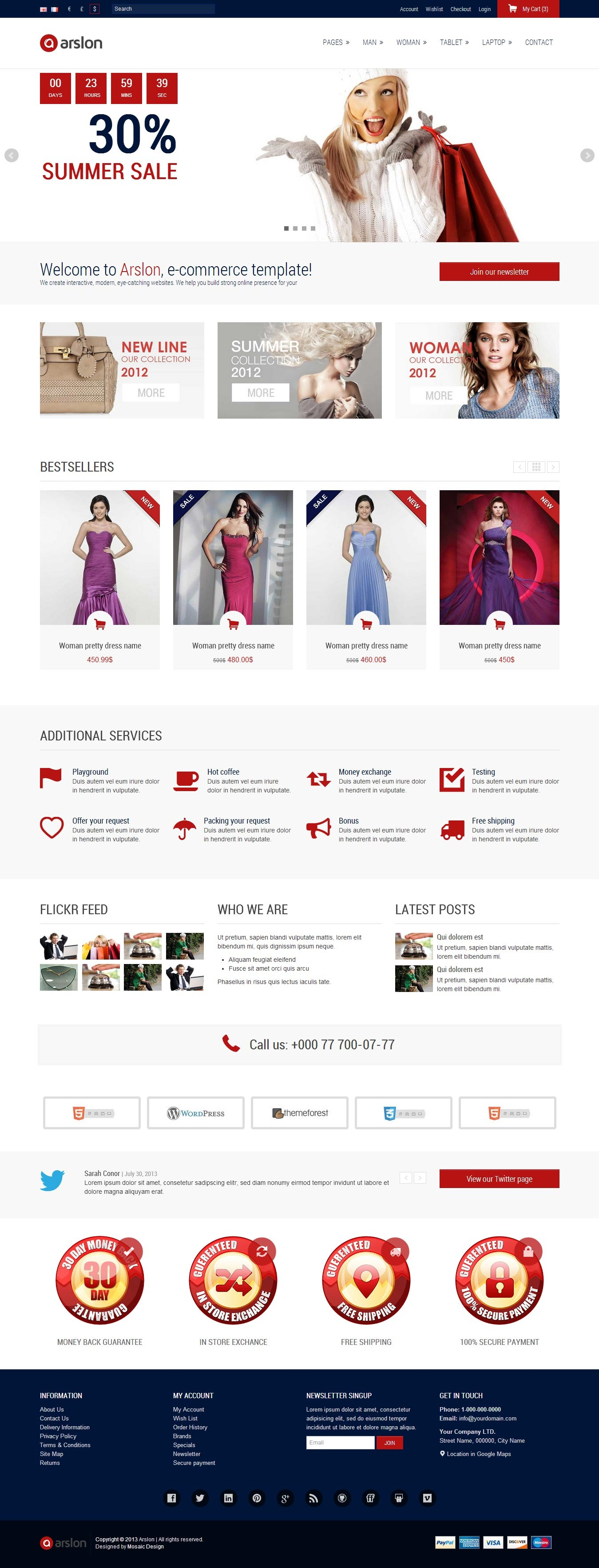 Arslon - Premium E-Commerce Template