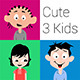 Cute 3 Kids - GraphicRiver Item for Sale