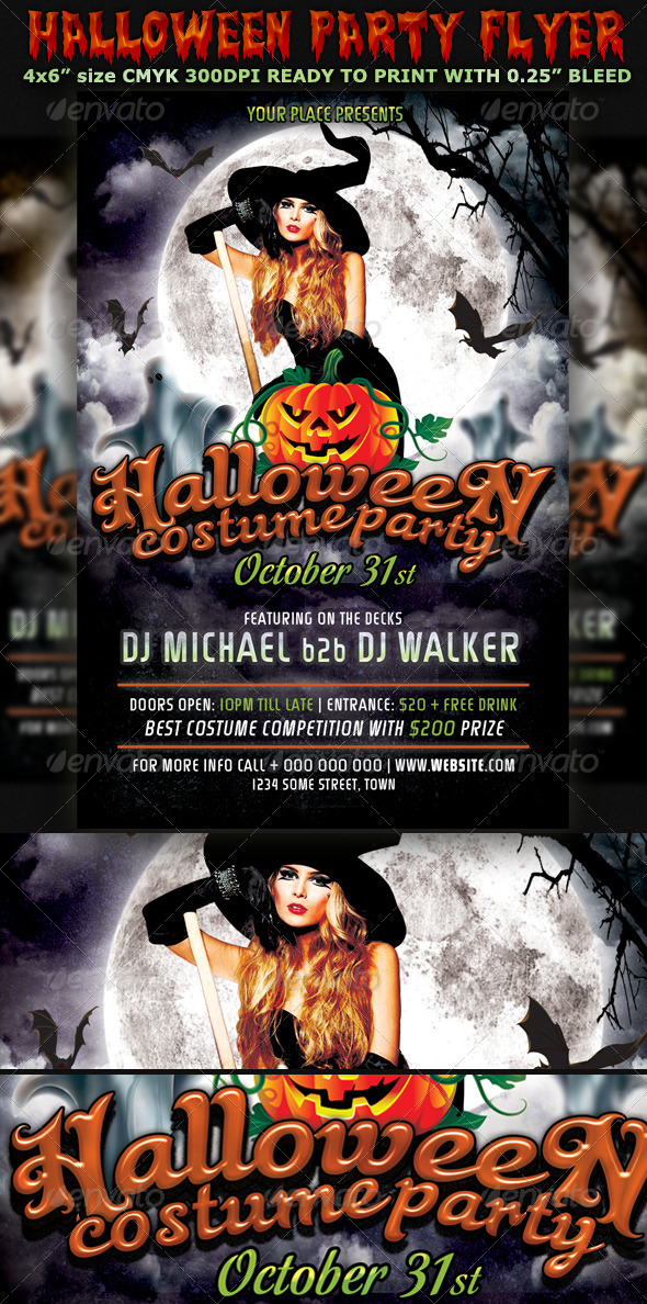 Halloween Party Flyer Template V3 - Holidays Events