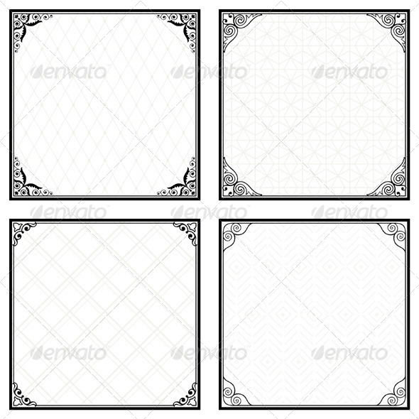 GraphicRiver Decorative Menu Frames 5485185