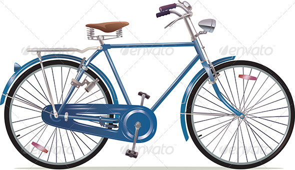 GraphicRiver Old Style Retro Bicycle 5485229