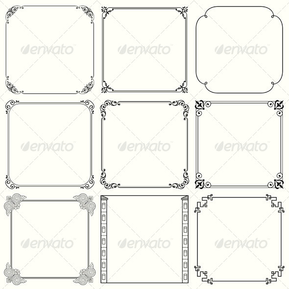 GraphicRiver Decorative Frames 5485525
