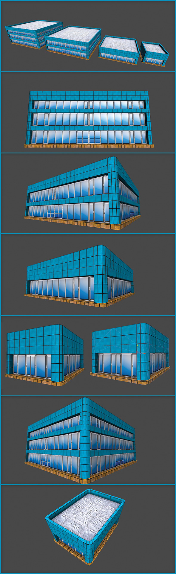 3DOcean Toon Textured Office Building 5485969
