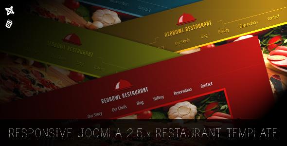 ThemeForest RedBowl Restaurant Responsive Joomla Template 5485261