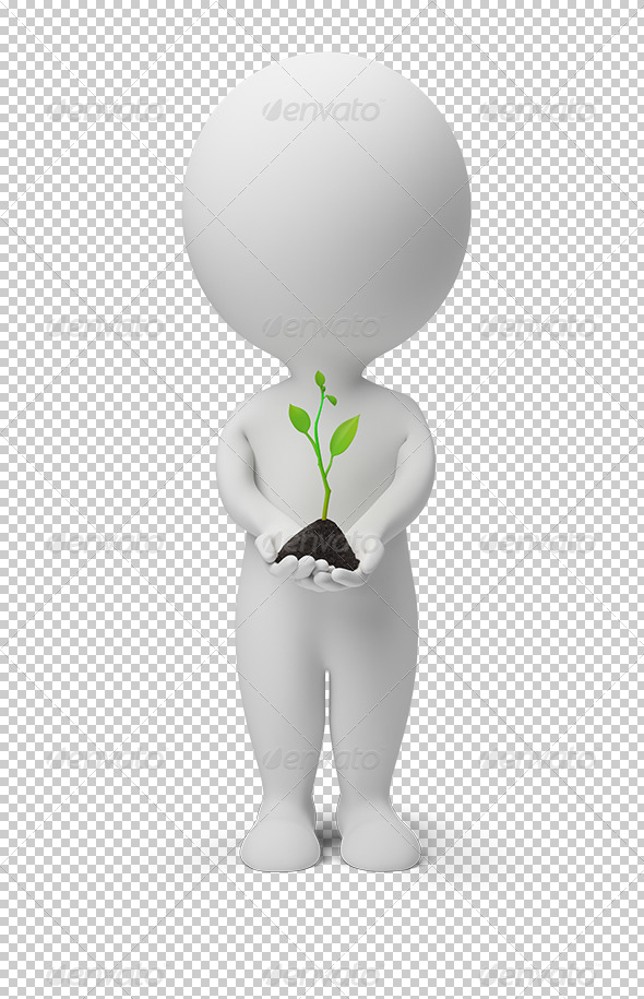 GraphicRiver 3D small people fresh sprout 5487198