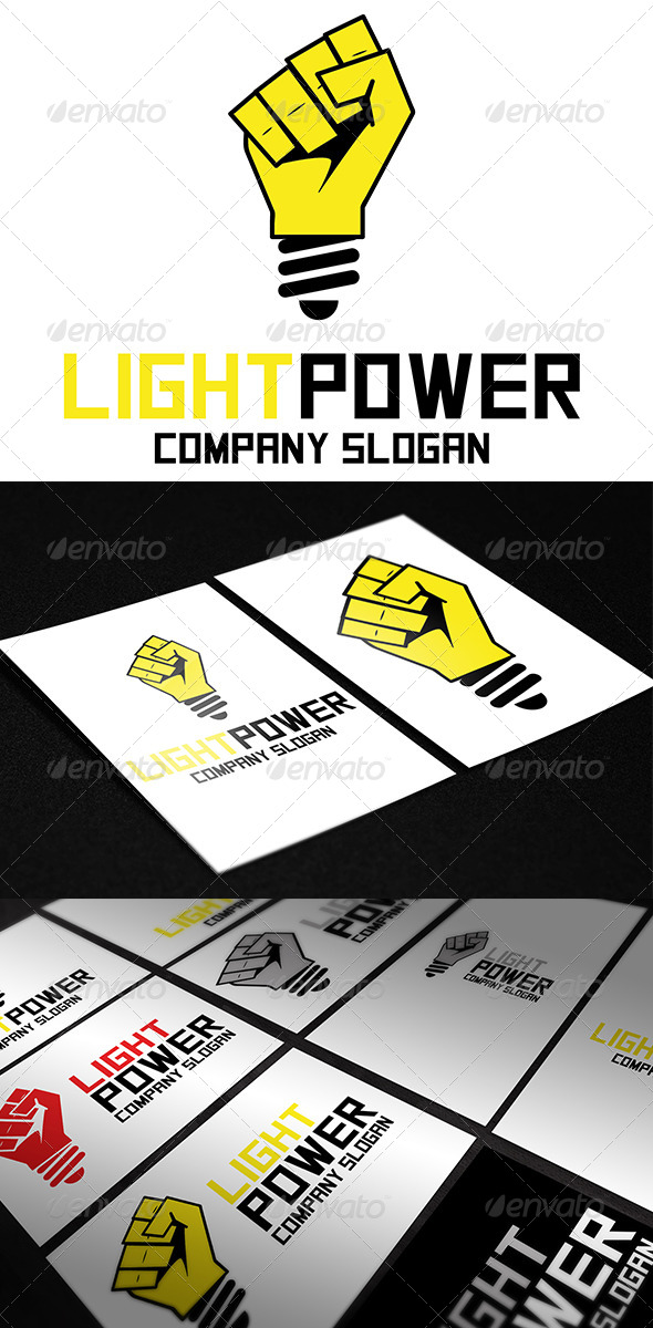 GraphicRiver Light Power Logo 5487215