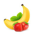 Strawberries and banana - PhotoDune Item for Sale