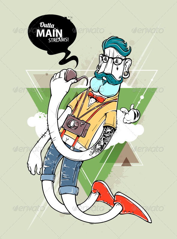 GraphicRiver Hipster graffiti character 5487710