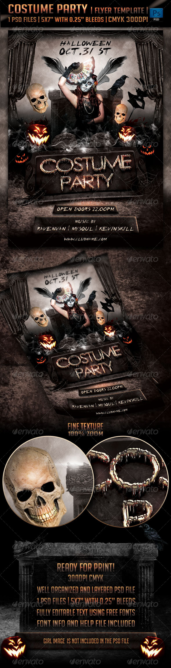 GraphicRiver Costume Party Flyer Template 5487743