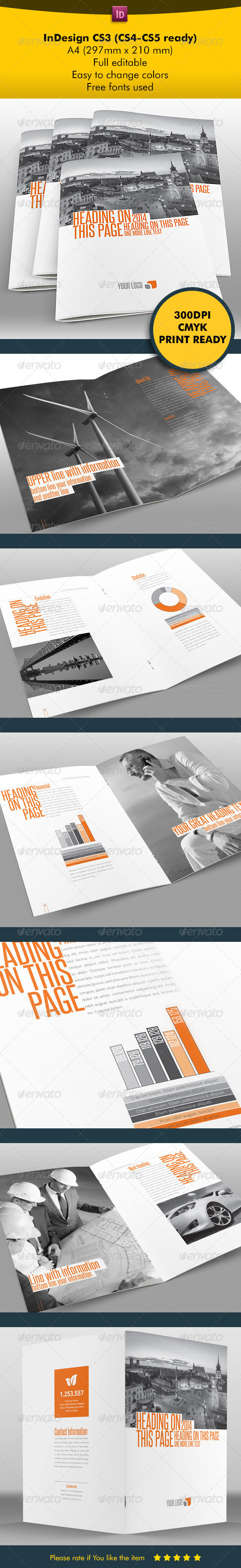 Business Clean & Modern - Brochures Print Templates