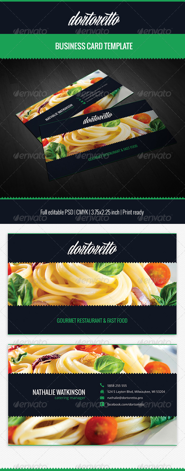 GraphicRiver Dortoretto Business Card 5471203