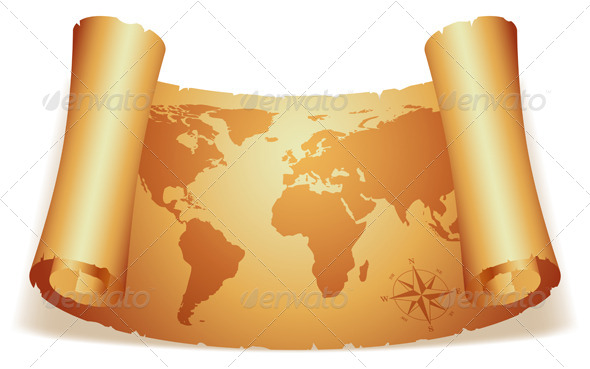 GraphicRiver Old Map 5488911