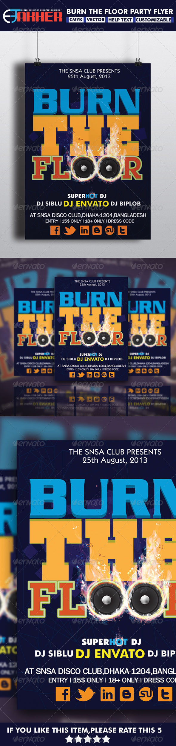 GraphicRiver Burn The Floor Party Flyer 5468472