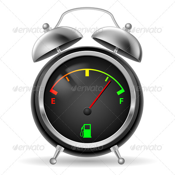 GraphicRiver Fuel indicator in clock design 5489242