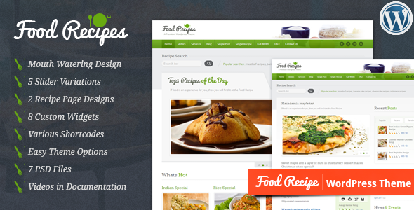 Food Recipes - WordPress Theme