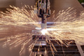Plasma cutting process of metal with sparks - PhotoDune Item for Sale