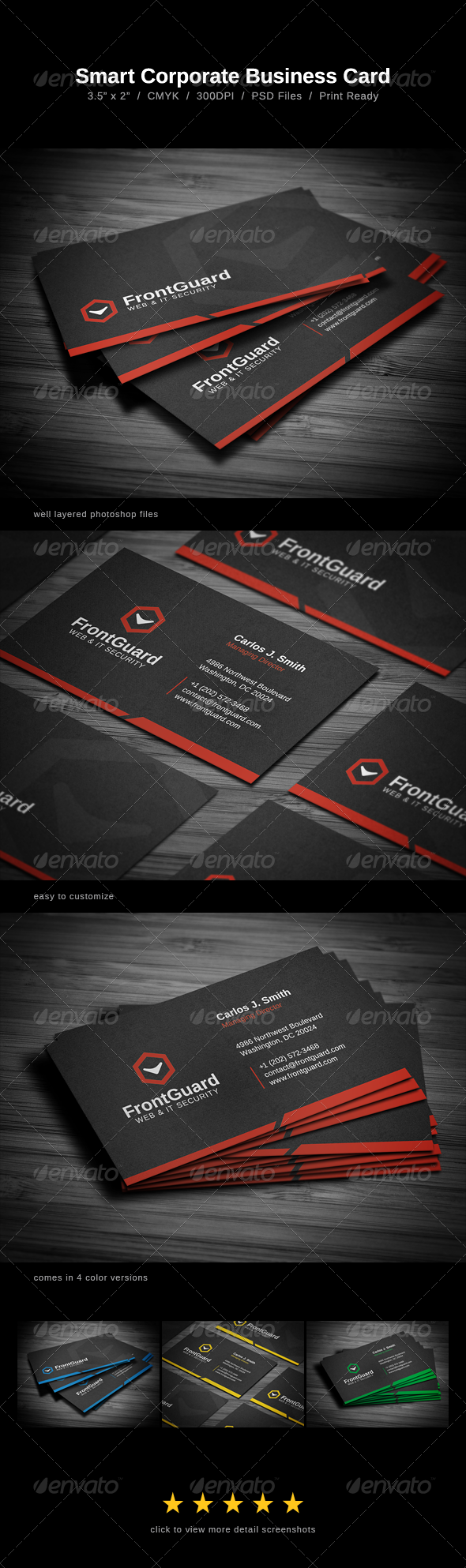 Smart Corporate Business Card - Business Cards Print Templates