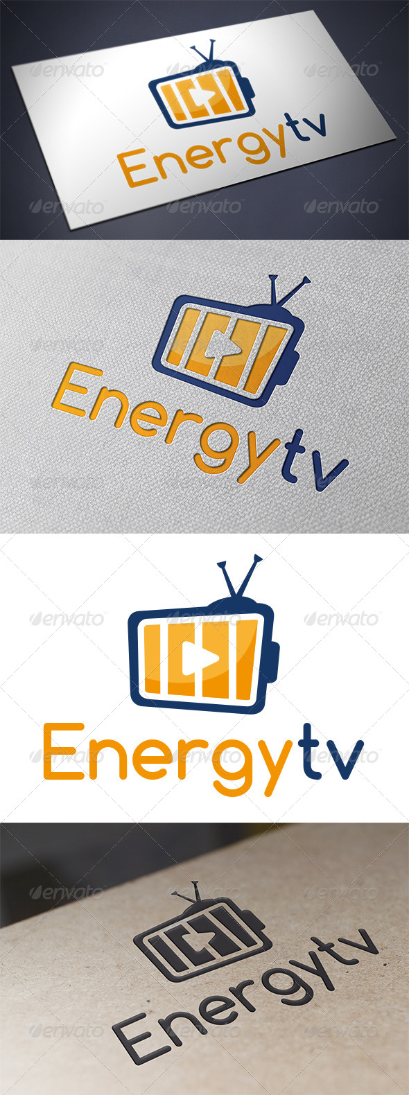 GraphicRiver Tv Energy Logo 5490230