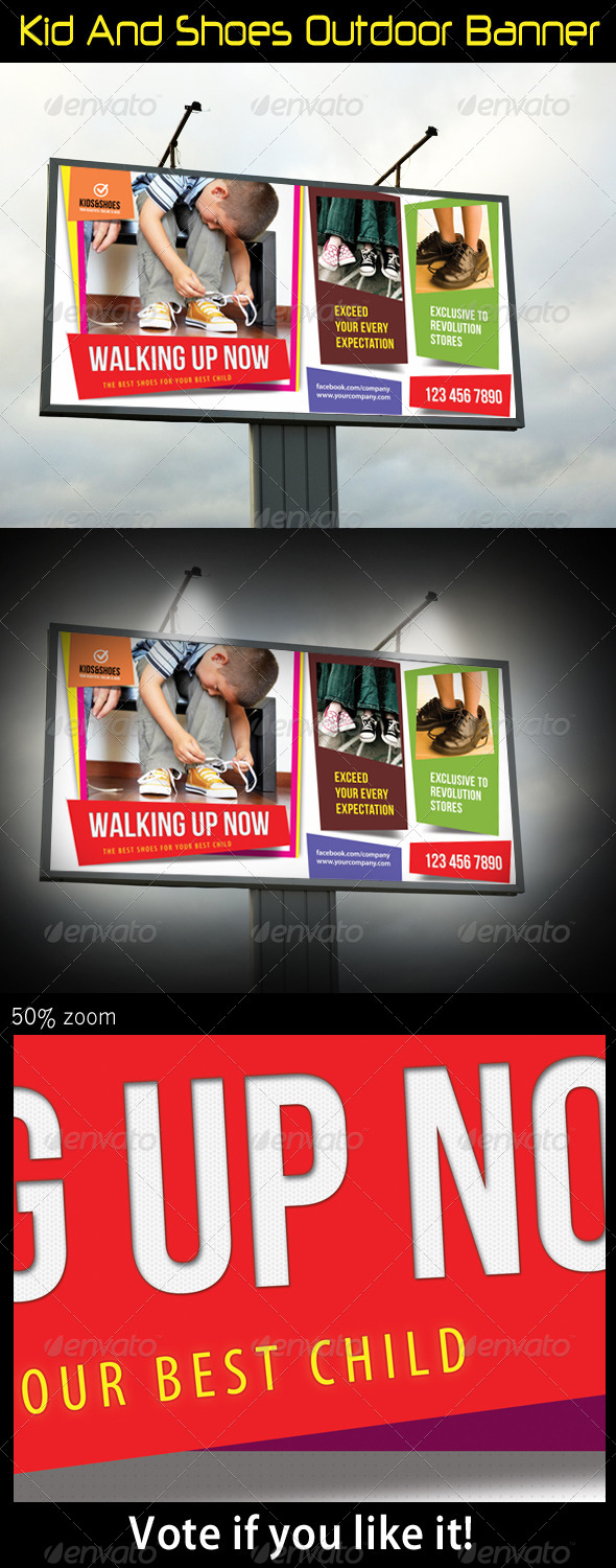 GraphicRiver Kid And Shoes Outdoor Banner 5490276
