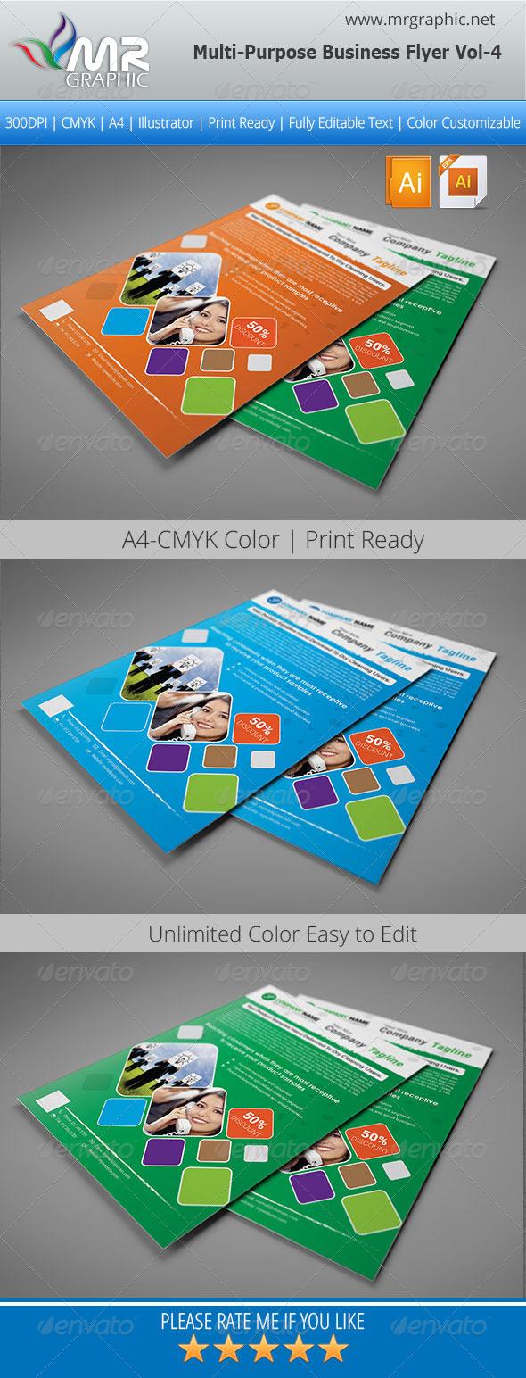 GraphicRiver Multipurpose Business Flyer Vol-04 5490389