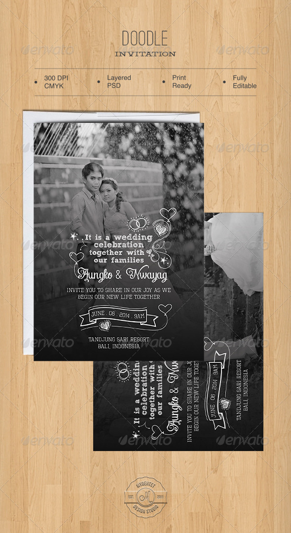 GraphicRiver Doodle Invitation 5491675
