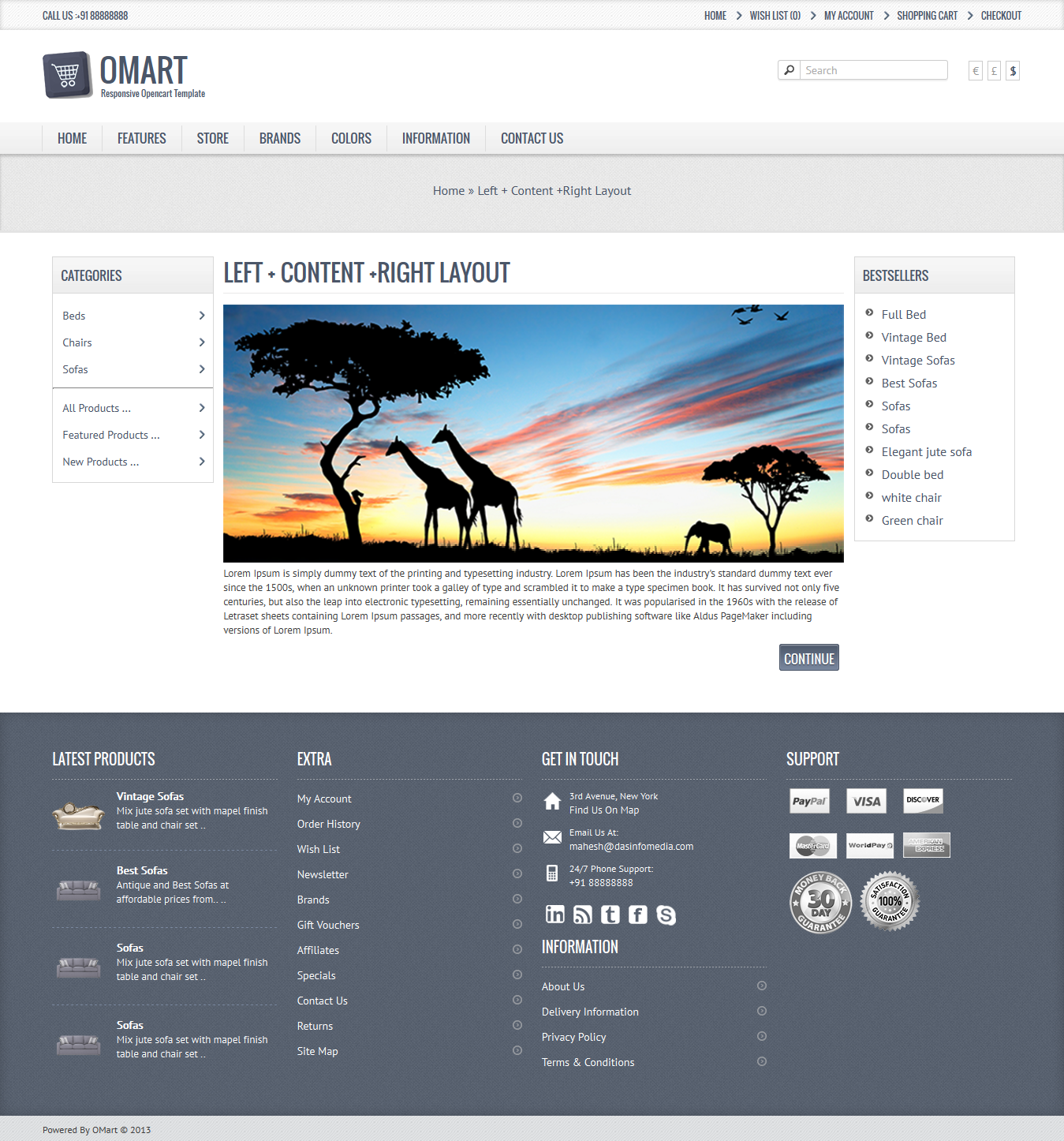 Omart – Mobile ready Opencart theme