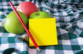 apples and post it pad  - PhotoDune Item for Sale