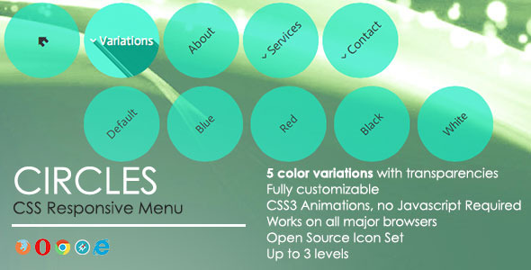 CodeCanyon Circles Responsive Menu 5493305