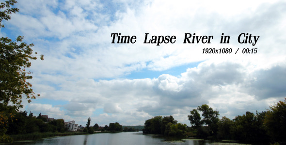 VideoHive Time Lapse River In City 5493426