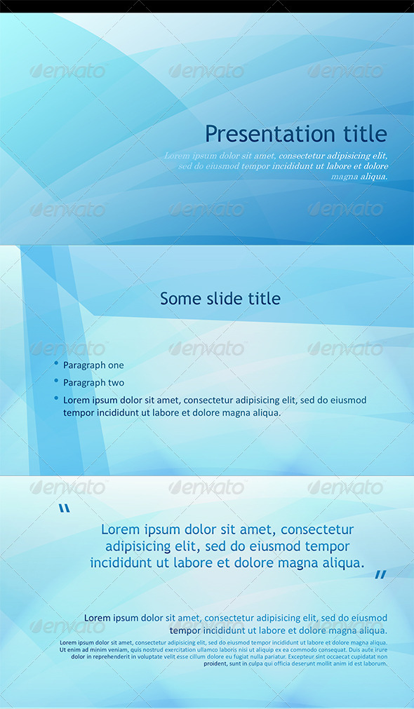 GraphicRiver PowerPoint Abstract Blue Template 5493770