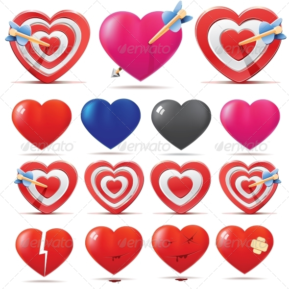 GraphicRiver Hearts Collection 5493913