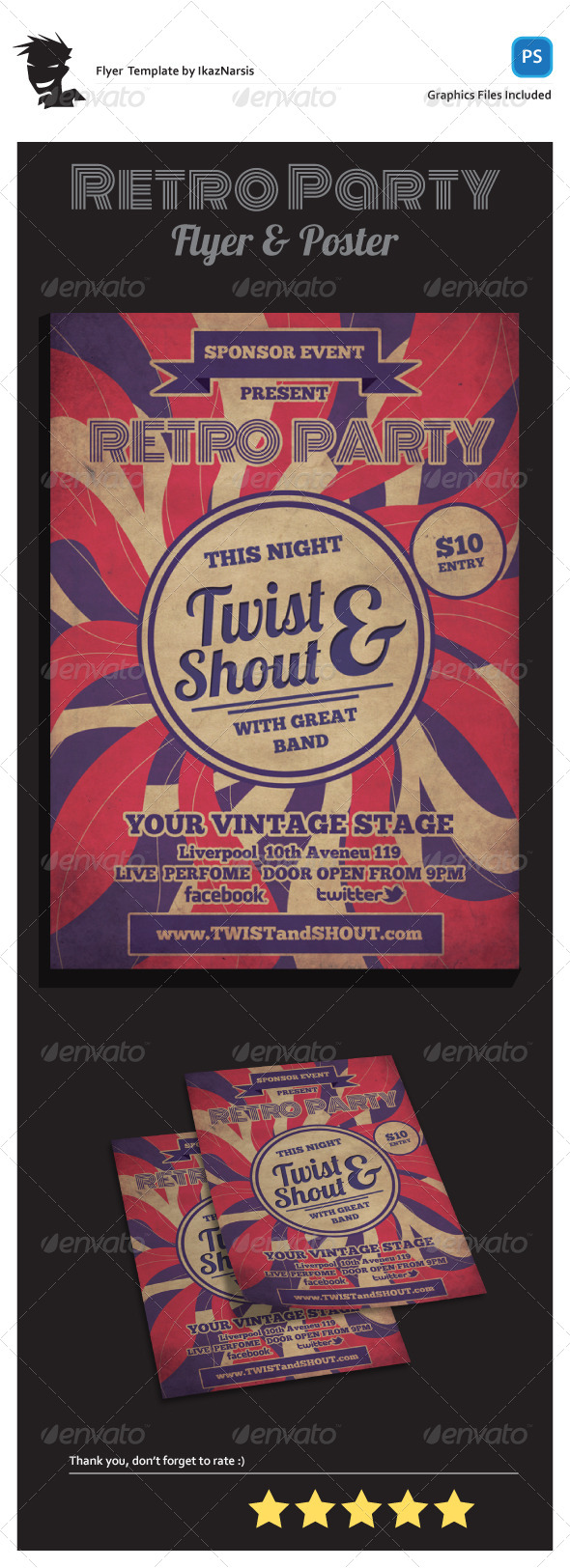 GraphicRiver Twist and Shout Flyer Template 5494437