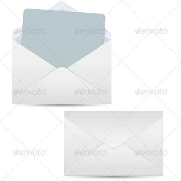 GraphicRiver Open and Closed White Envelopes 5495307